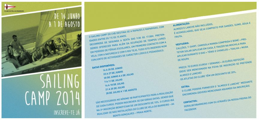 """Sailing Camp 2014""  Clube de Vela do Barreiro"