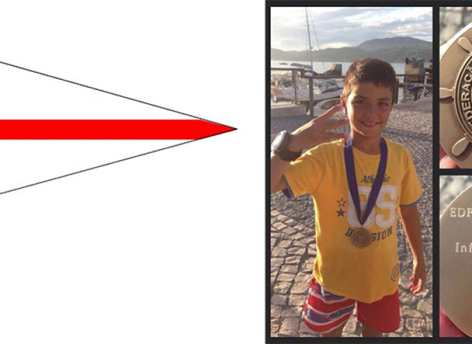 Ricardo Alves do CVB ganha o bronze no Campeonato de Portugal infantis e iniciados na classe Optimist