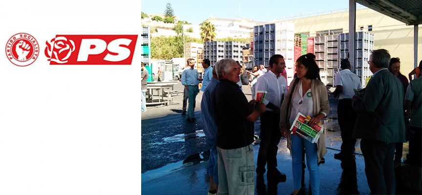 Candidatos do PS visitaram Porto de Pesca de Sines