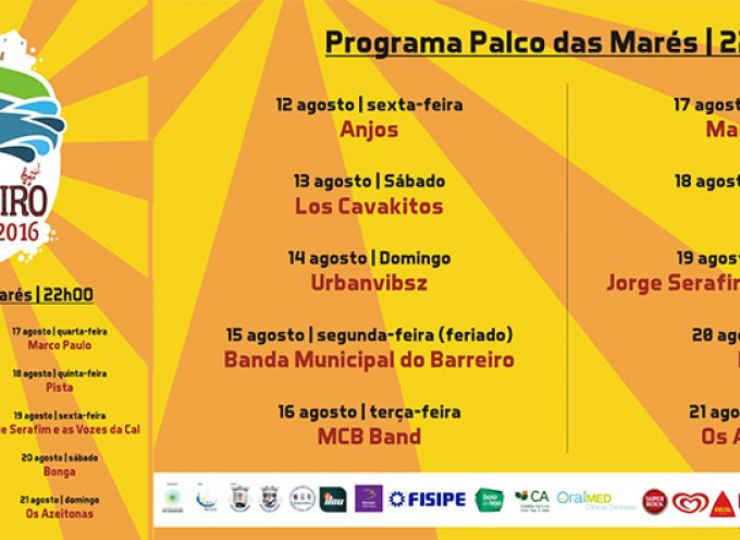 Festas do Barreiro 2016 de 12 a 21 de agosto