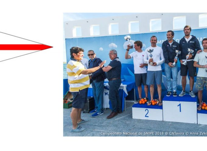 CVB no 3º lugar do pódio no CAMPEONATO NACIONAL SNIPE 2018