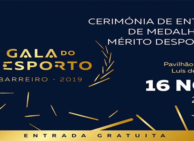 Gala do Desporto no Barreiro a 16 de novembro